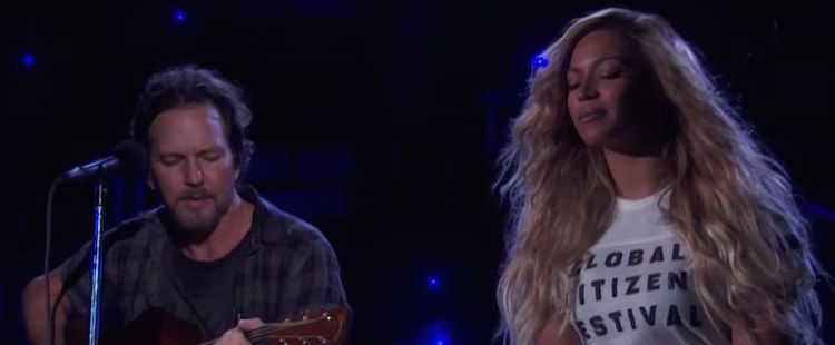 Pearl Jam & Beyoncé - Redemption Song (Global Citizen Festival)