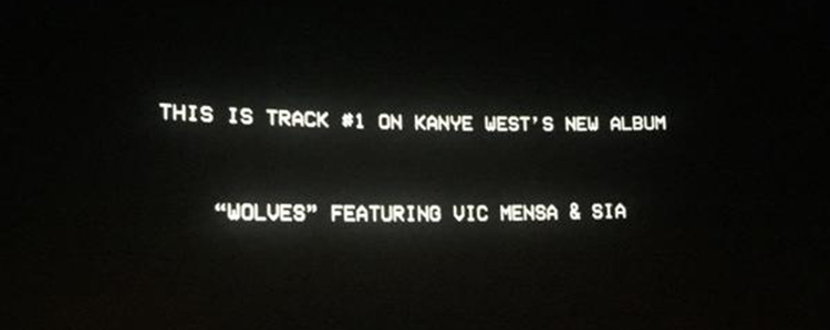 Kanye West – Wolves (feat. Sia, Vic Mensa)