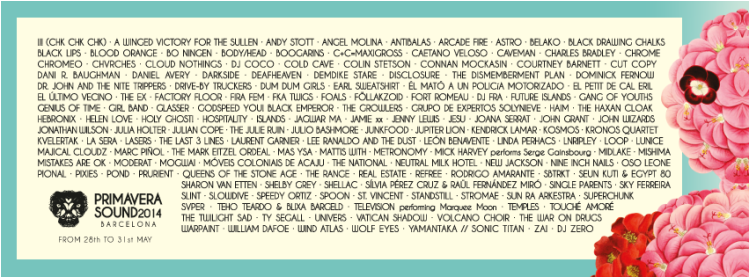 Primavera Sound Festival Playlist!